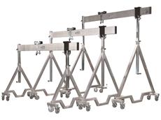Aluminium portable gantry cranes
