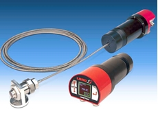 Self-contained SPOT Series infrared pyrometers measure temperatures from 250°C to 1800°C for a wide range of industrial applications