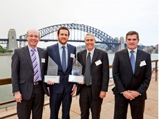 (L-R) Craig Johnson, Director Acaché; Brendan James, Adviser Safety Assurance, Aurizon; David McMah, Manager Systems and Governance, Aurizon; Jack Joaquin, Management Consultant, Acaché
