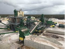 CDE glass sand washing plant from feed point