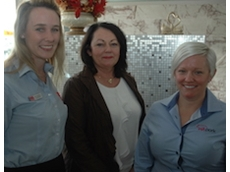 Lechelle van Breda, Jan Cooper, and Emalyn Loudon at the West Australian Pork Producers Association event.