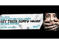 Climate change campaigners pull 'paedophilic' anti-coal banner