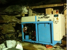 Jet Edge pump 2,000 feet below surface in a mine.