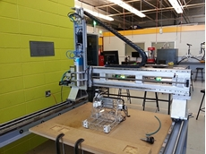The CNC machining centre.