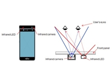 ​FUJITSU has developed an iris authentication system and built it into a prototype smartphone.