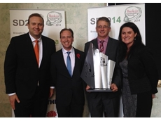 L - R: Kimberly-Clark Australia CEO Robbert Rietbroek; The Honourable Greg Hunt MP; Kimberly-Clark Millicent Mill Manager Scott Whicker; Kimberly-Clark Head of Corporate Affairs and Sustainability Jacquie Fegent-McGeachie.