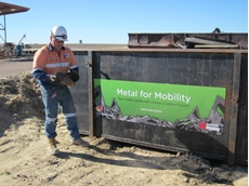 Mine's scrap metal being used to help disability services