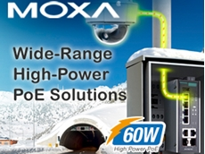 Moxa launches high-power smart PoE switches