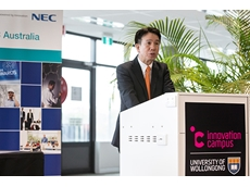 NEC managing director Tetsuro Akagi at UOW's Innovation Campus.