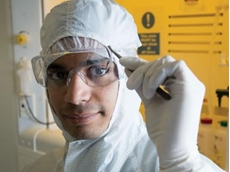 Project leader Dr Sharath Sriram says the thin film is specifically designed to have defects in its chemistry to demonstrate a 'memristive' effect.