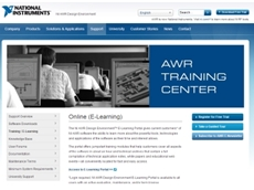 The portal will allow current users of NI's AWR software to learn more about the tools, technologies and applications of the software as their time and interest allows.