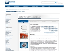 The updated Solar Power Technology site, available on Mouser.com, contains valuable resources for developers who are interested in learning about the latest advances in solar power systems.