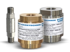 600H series gas check valves in brass and stainless steel housing