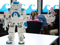 The workshop will have students working together in teams using software to develop programming for NAO