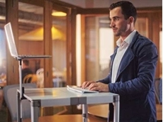 ZestDesk enables workers to turn almost any flat surface into a temporary work station