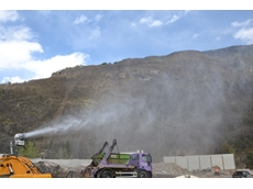 New powerful dust suppression cannon uses salt water