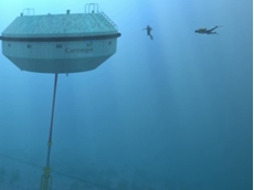 Carnegie Wave Energy's CETO system, which harnesses energy in waves to create electricity and desalinated water.