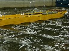Model of the floating harbour transhipper (Picture: Bret Salinger)
