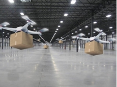 Pilotless drones for sorting centre