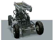 The all-terrain vehicle is remotely controlled by an Xbox using wireless internet. (Image: Transpower)