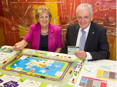 The developers of the game, former Business Studies teachers – Pat Smedley and Andy Page