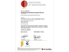 Vanderlande has achieved certification to the OHSAS 18001:2007 standard