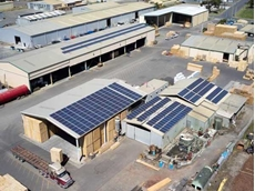 Yingli Solar's new PV installation at Fisher's Group facility