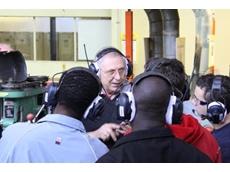 TAFE SA Marleston Lecturer Dennis Daykin demonstrates a Peltor Lite-Com III headset
