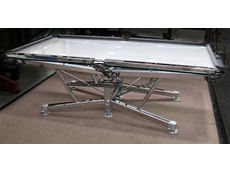 Chrome plated pool table