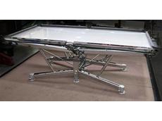 Chrome plated pool table