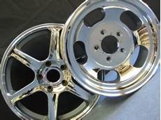 Chrome plating of alloy car wheels