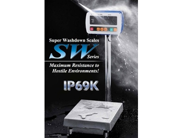 "SW Series ""Super Washdown"" IP69K Scale"