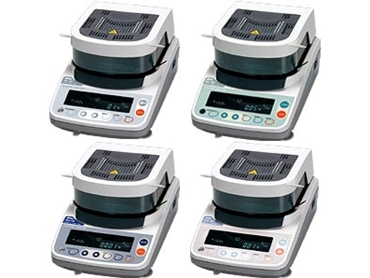 Moisture analysers with five measurement programs