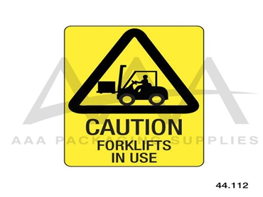 Warning Signage from AAA Packaging Supplies