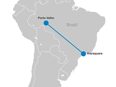 The Rio Madeira High Voltage Direct Current (HVDC) link covers a distance of about 2,400km to São Paulo