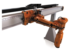 The articulated arm robot and linear gantry unit  from ABB