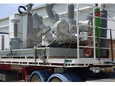 ABB's skid-mounted 66kV module on a truck.