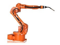 The IRB 1520ID robotic arc welder can easily weld around cylindrical objects without any stops
