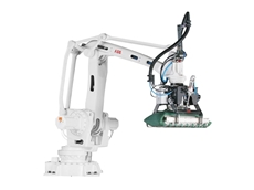 The IRB 460 industrial robot can be configured for either high speed bag palletising or compact end-of-line case palletising