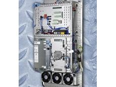 Panel-mounting robot controller