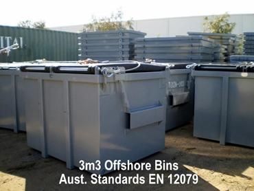 Offshore bins to Australian standards