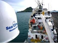 Sea Tel 4006 installed aboard SV Geosounder