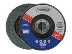 The zirconia grain on GRINDTECH flap discs ensure excellent results on steel, stainless steel and aluminium