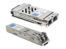 Can plug into Ethernet switches with dedicated GBIC slots.