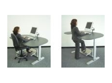 AME System's ergonomic adjustable sit/stand desks.