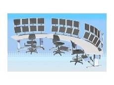 AME crescent-shaped desk.