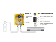 The VeriCal system verifies flow meter calibration in minutes without removing the meter from the pipe or process