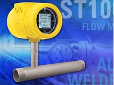 Model ST100L air/gas in-line thermal mass flow meter