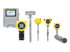 Modbus compatible thermal mass flow meters