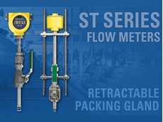The ST Series flow meters feature simple insertion style designs with FCI's optional easy-maintenance packing gland kit